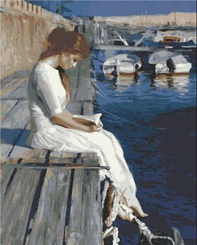 Women Reading- People Paint By Numbers