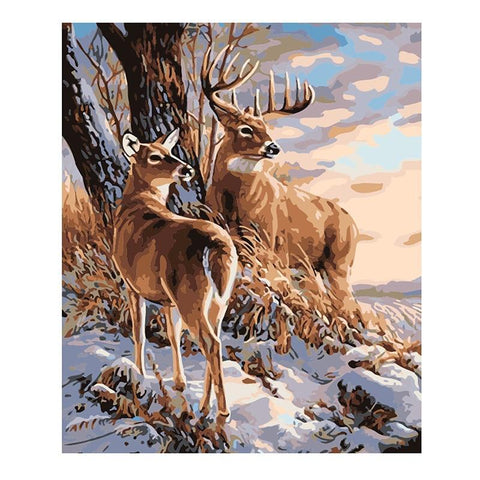 Buck And Doe - Animals Paint By Numbers