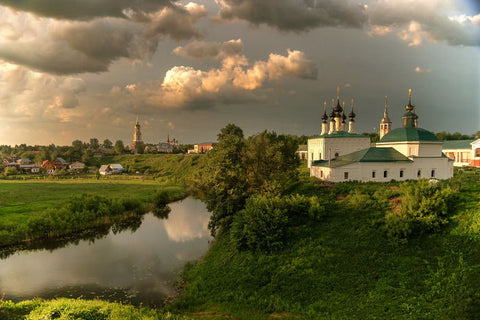 The Green Suzdal- Cities Paint By Numbers