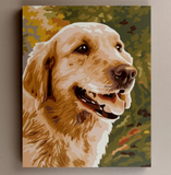 Paint by numbers dog photo