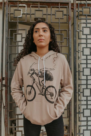 Ant on a Bicycle Unisex Hoodie