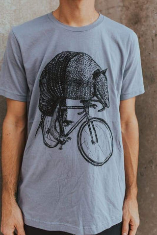 Armadillo on a Bicycle Men's Shirt