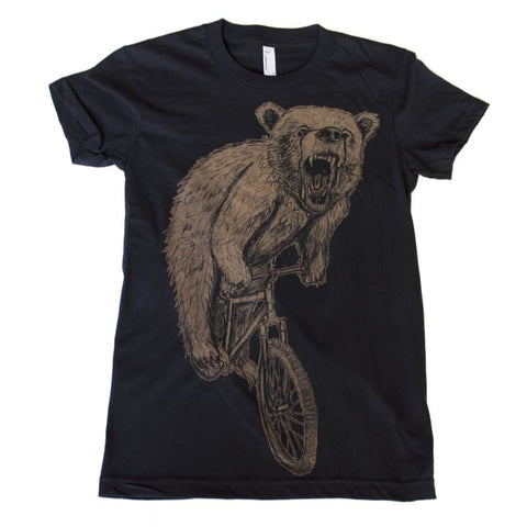 Bear on a Bicycle Women's T-Shirt