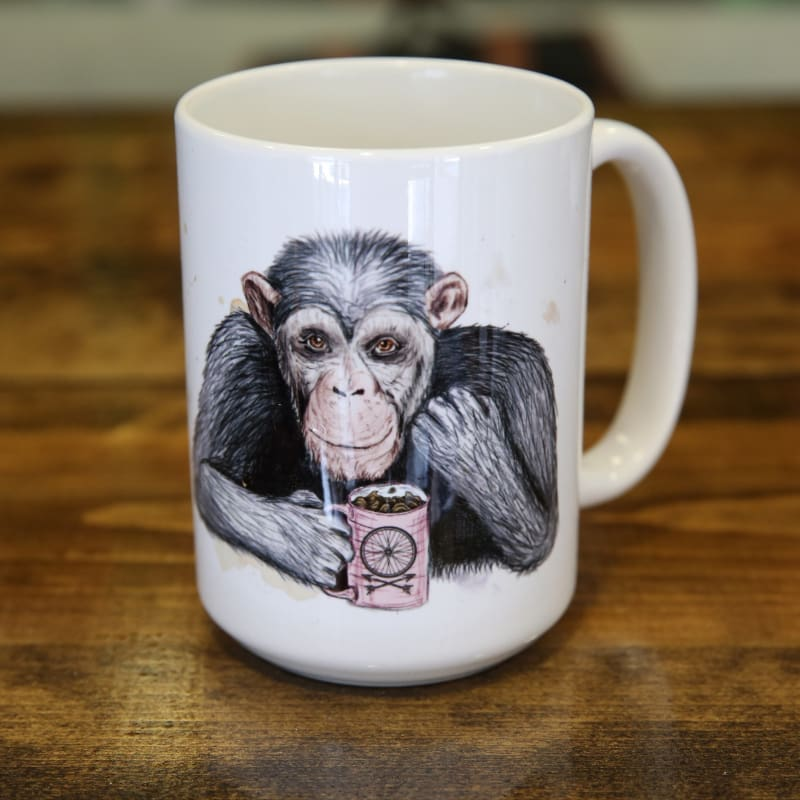 Coffee Chimpanzee Mug - Chimp Mug - Mugs