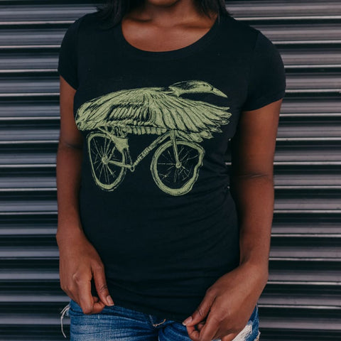 Duck on a Bicycle Women's T-Shirt