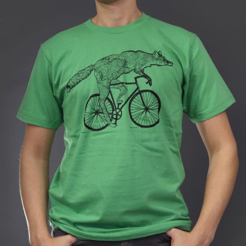 Fox on a Bicycle Unisex Men's T-Shirt