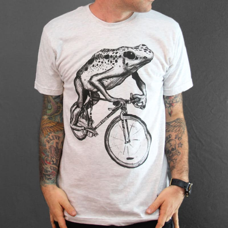 Frog on a Bicycle Mens T-Shirt - Unisex Tees
