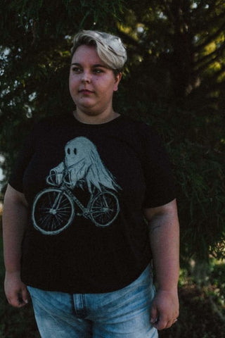 Ghost on a Bicycle Women's T-Shirt