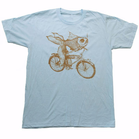 Goldfish on a Bicycle Men's T-Shirt