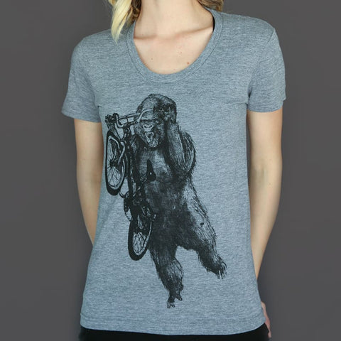 Gorilla on a BMX Bike Women's T-Shirt