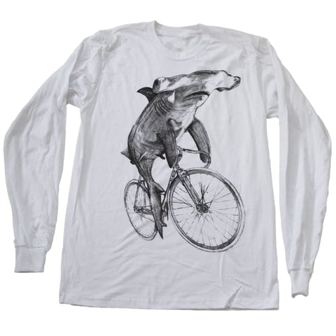 Hammerhead on a Bicycle Men's Long Sleeve T-Shirt
