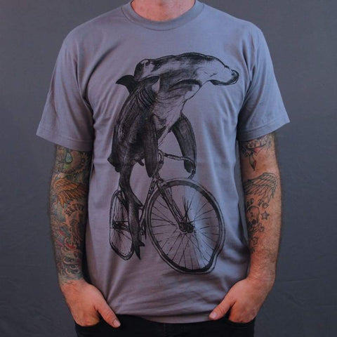 Hammerhead on a Bicycle Men's T-Shirt