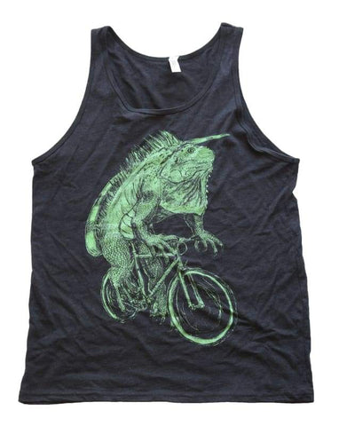 Iguana on a Bicycle Men's Tank Top
