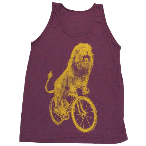 Lion on a Bicycle Men's Tank Top