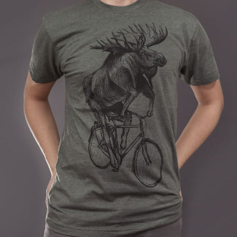Moose on a Bicycle Men's T-Shirt