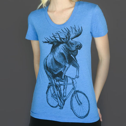 Moose on a Bicycle Women's T-Shirt