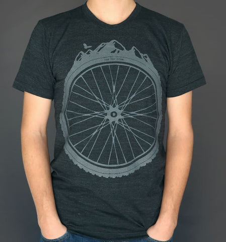 Mountain Bike Wheel Men's T-Shirt