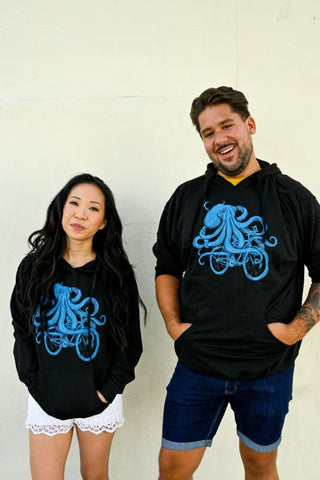 Octopus on a Bike Unisex Hoodie