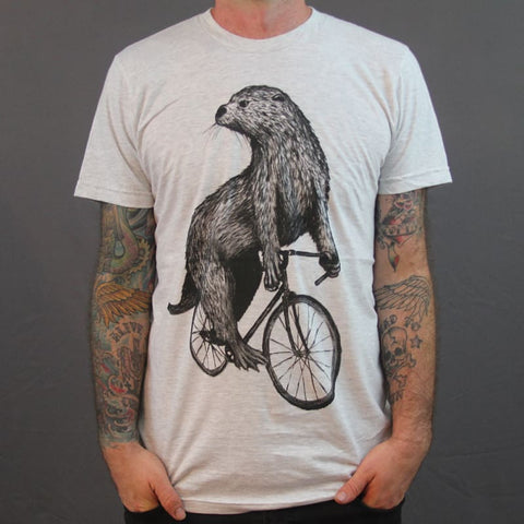 Otter on a Bicycle Men's T-Shirt