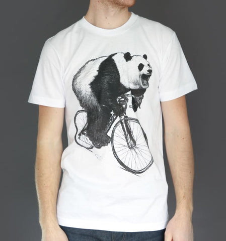 Panda on a Bicycle Men's T-Shirt