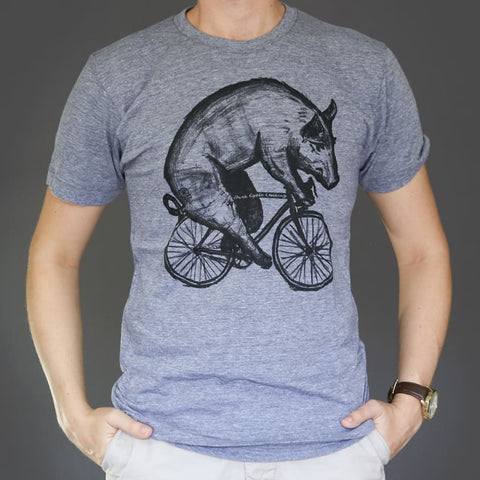 Pig on a Bicycle Men's T-Shirt
