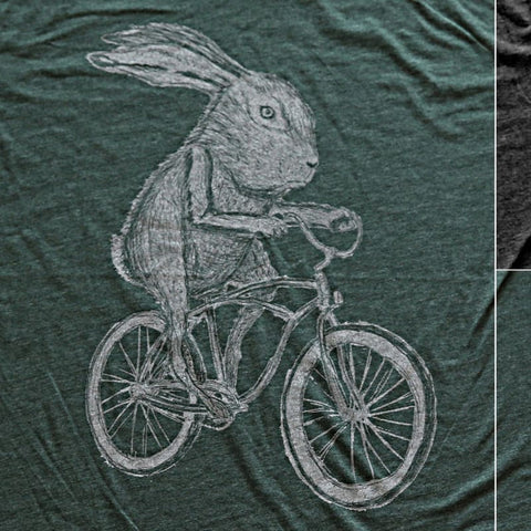 Rabbit on a Bicycle Men's T-Shirt