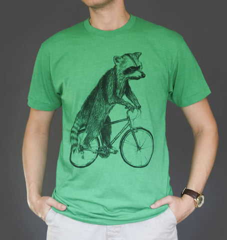 Raccoon on a Bicycle Men's T-Shirt