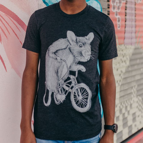 Rat on a Bike Men's T-Shirt