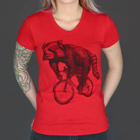 Red Panda on a Bicycle Women's T-Shirt