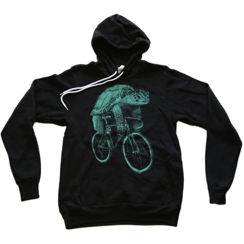 Sea Turtle on a Bicycle Unisex Hoodie