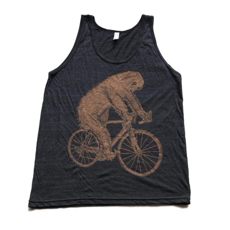 Sloth on a Bicycle Mens Tank Top - Tank / Tri-Black / S