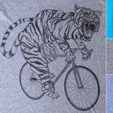 Tiger on a Bicycle Mens T-Shirt