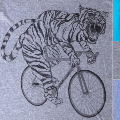 Tiger on a Bicycle Men's T-Shirt