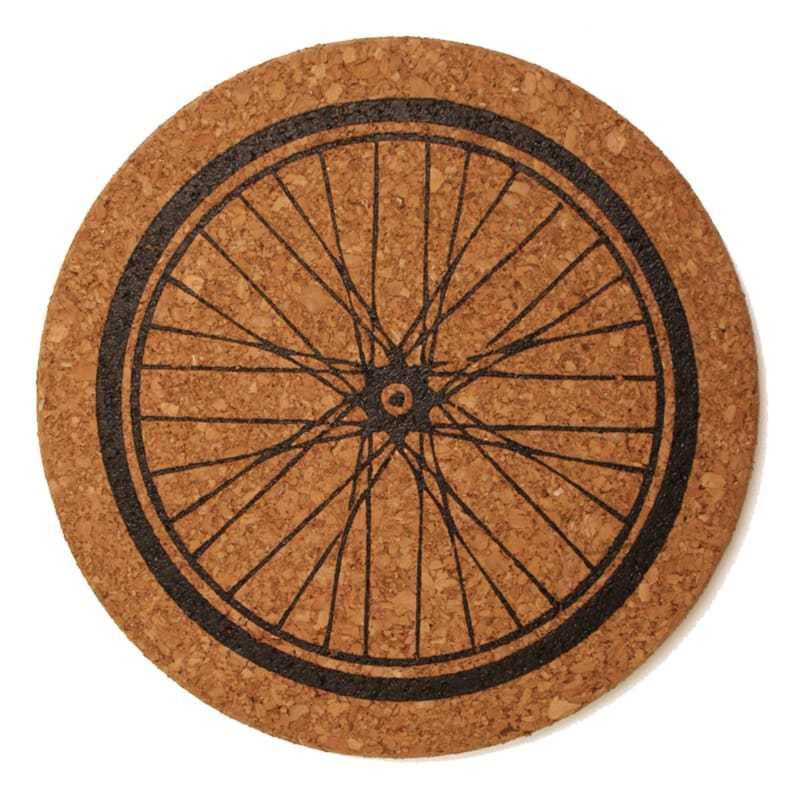 Trivet - Bike Wheel - Cork Trivet - Trivets