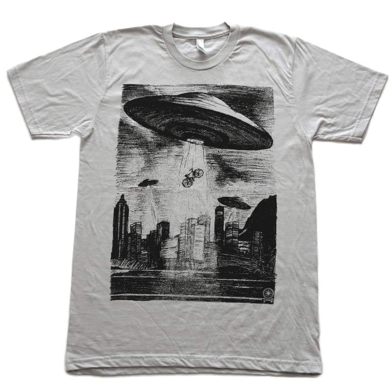 ZZZ ufo ] t-shirt + more options - Mens/Unisex Tee / Silver / XS - Shirts