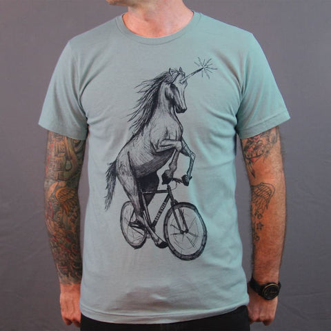 Unicorn on a Bike Men's T-Shirt