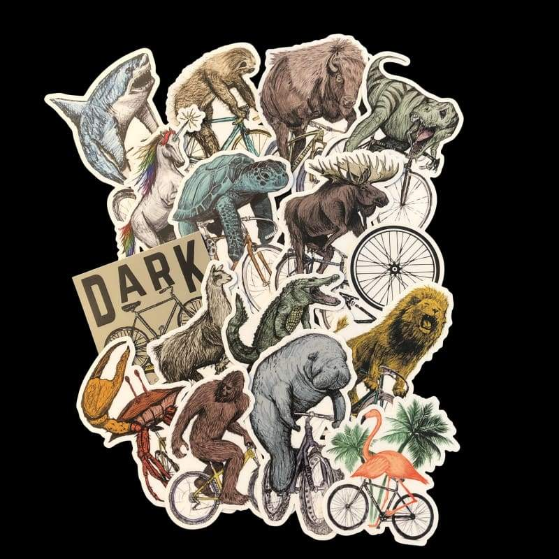 Vinyl Sticker - THREE PACK Unicorn Shark Logo Sloth Trex Buffalo