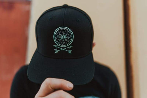 Wheel + Arrows Mint Snapback Hat