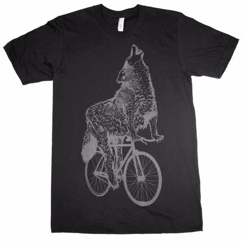 Wolf on a Bicycle Men's T-Shirt