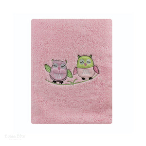 Girl Baby Owl Bath Towel