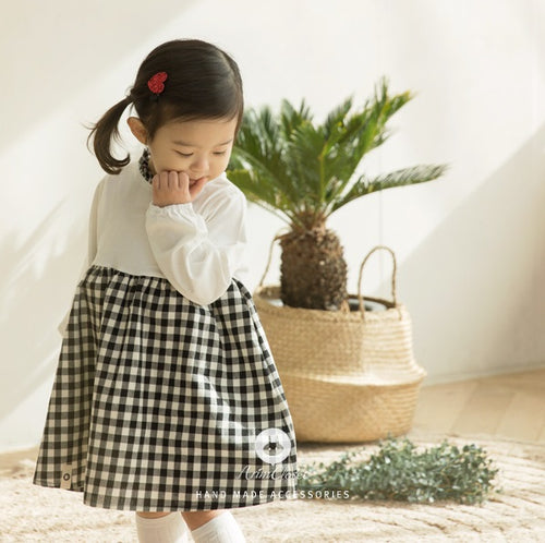 Checkered Cotton Dress (3mths-4yrs old)
