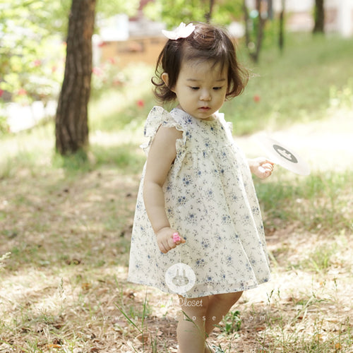 Blue Flower Dress (3-4yrs old)