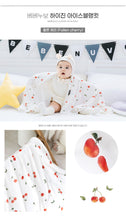 Load image into Gallery viewer, Bebenuvo Hygiene Ice Blanket/Swaddle Wrap - Fallen Cherries