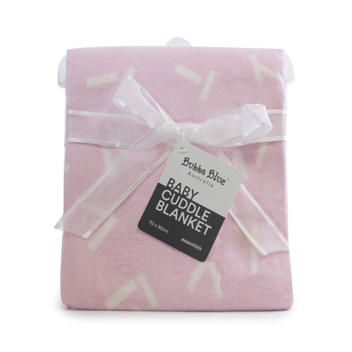 Everyday Essentials Brush Cotton Cuddle Blanket -Pink