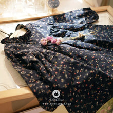 Load image into Gallery viewer, Navy Flower Dress (3mths-4yrs old)