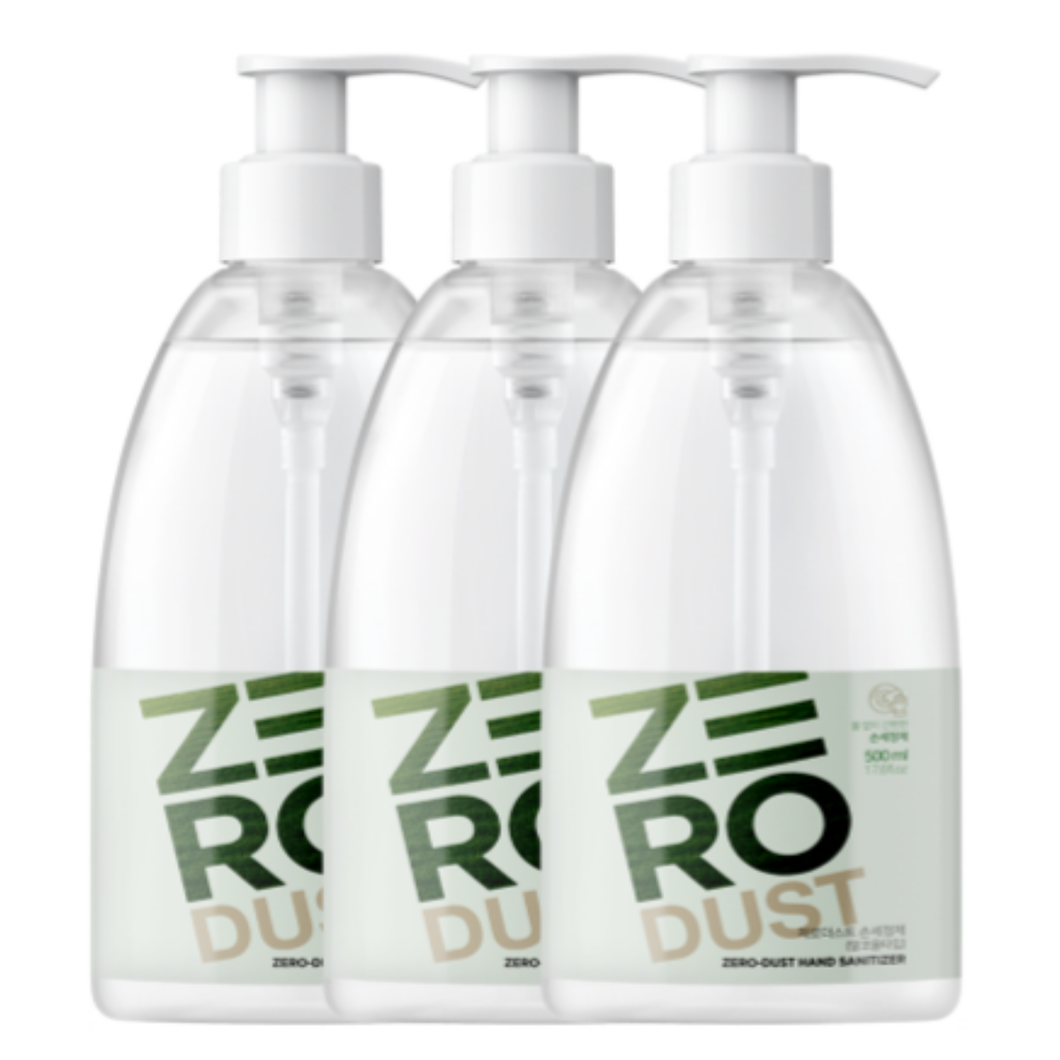 K-Mom Zero Dust Gel Hand Sanitiser 500mL (70% Ethanol) - Triple Pack