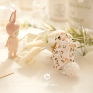 Flower Bunny Hairpin