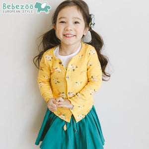 Yellow Floral Cardigan (1-6yrs old)