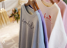 Load image into Gallery viewer, Lettering Sweater Top (Adult) - PRE-ORDER