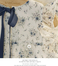 Load image into Gallery viewer, Blue Flower Dress (3-4yrs old)
